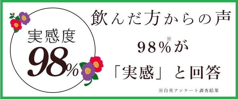 美甘麗茶の満足度は98%と高評価です。