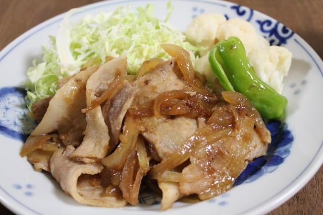 豚肉のスライスを使った生姜焼き